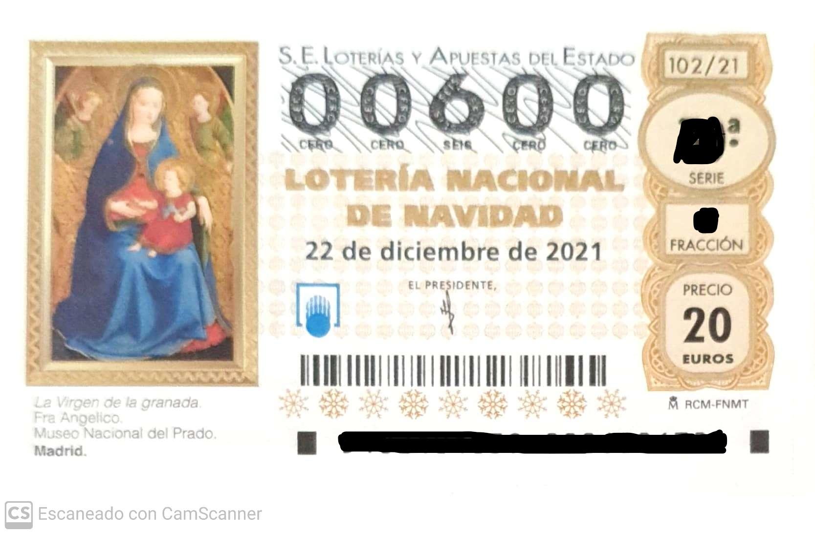Loteria de Navidad  2.021