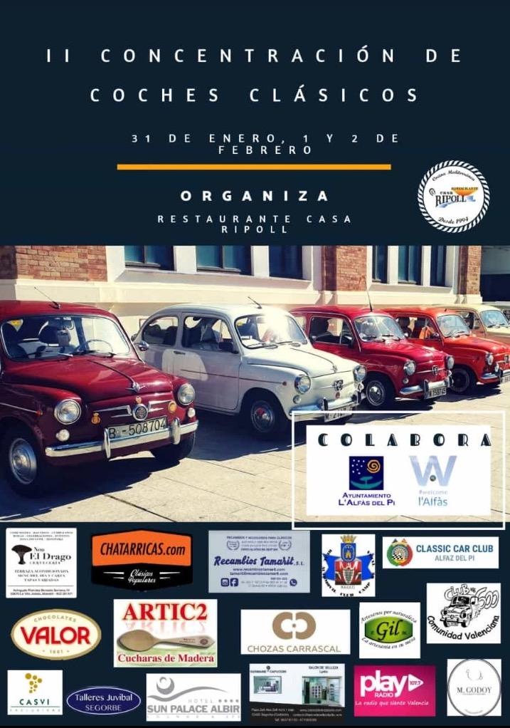 II concentración coches clásicos – Restaurante Casa Ripoll